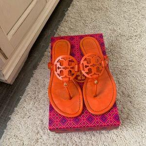 Tory Burch Shoes - Orange Tory Burch miller sandals